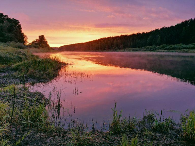 zvejot Latgalē, muižas parks, Daugavas loki
